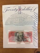 31 OCTOBER 1994 MINT COND. FIRST RUN $20 POLYMER NOTE IN COMMEMORATIVE FOLDER