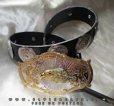 Elvis Style Silver & Gold Eagle Concho Belt