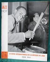 JAZZ Hot - 1951 French Magazine Stan Getz  Milt Jackson  Stan Kenton