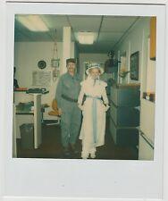 Vintage 80s Polaroid PHOTO Couple Fidel Castro & Lil Bo Peep Halloween Costumes