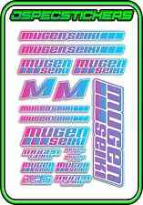 MUGEN SEIKI RC STICKER SHEET 1/8 BUGGY 1/10 CAR MTX6R MBX7R MRX6 GT ECO PINK/BLU