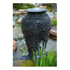 Aquascape Stacked Slate Urn Fountain Water Stone Rock Garden Home Outdoor Decor