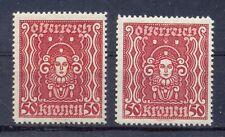 ANK 400 I.+II.** 50 KRONEN FRAUENKOPF HOCH- U. BREITFORMAT POSTFRISCH