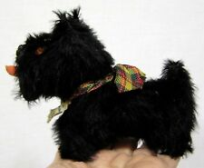Vintage Plush Toy Scottie Dog Tagged Wendy Boston Made in Great Britain