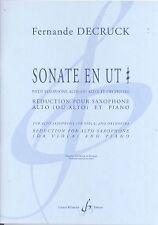Decruck sonate en ut Diese SAXOPHONE ALTO & PIANO