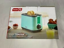 Dash Aqua 2-Slice Wide Slot Easy Toaster with with Cool Touch