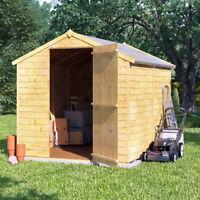 8x6 Overlap Garden Wooden Shed Windowless Single Door Apex Roof U0026 Felt 8FT  6FT
