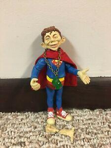 Alfred E. Neuman Superman Figure, MAD Magazine, BROKEN, but Displays Well
