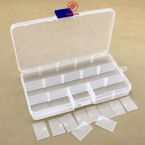 Practical Adjustable 10/15 Compartment Plastic Storage Box Organizer Container