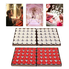 100 PCS Romantic Lover Wedding Party Birthday Round Shaped Scented Candles Decor