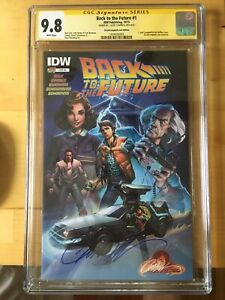 BACK TO THE FUTURE #1 Campbell variant cgc 9.8 SS Signed by J Scott Campbell