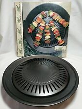 """Smokeless Stovetop Grill Chef Pierre Turn Your Stove into Indoor Bbq 12.5"""" Diam"""