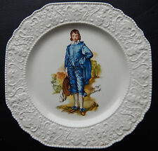 """Vintage """"Blue Boy"""" Gainsborough Plate by Woods and Sons England   SB4919"""