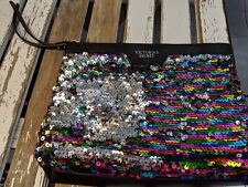 Victorias Secret Purse party bag handbag clutch wristlet reverse flip sequin Ltd