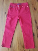 SPORTSCRAFT Red Stretch Jeans Size 6