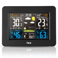 FanJu Wireless Weather Station Color Forecast Alarm Clock with Outdoor Sensor