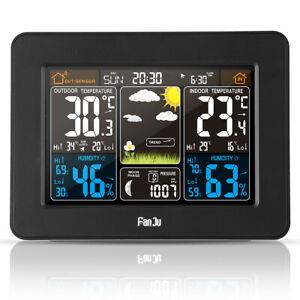 FanJu Wireless Weather Station Color Forecast Alarm Clock with Outdoor Sensor