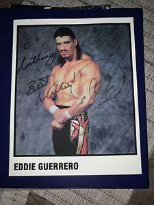Eddie Guerrero Autographed 8x10 WWE