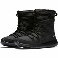 807758-001 Nike Roshe One HI Grade School Black/Metallic Silver Sizes 4-7 NIB