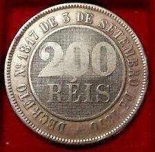 1887 Brazil 200 Reis KM# 484 Brésil Brasil réis - Pedro II
