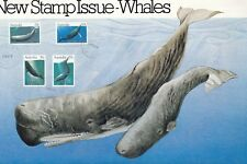 Stamps Australia 1982 Whales set 4 on official Australia Post first day panel