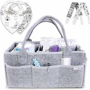 Putska Baby Diaper Caddy Organizer Portable Holder Bag for Changing Table