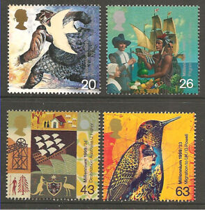 (#900) GB Stamps 1999 SETTLERS  TALE MILLENNIUM MNH SET
