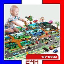 Tapis de Jeu Pour Enfants Circuit de Voitures Dans Ville Playset Trafic