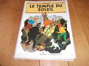 """TINTIN """" LE TEMPLE DU SOLEIL """" HALLMARK / ROUGE ET OR"""