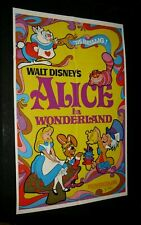 Original Disney ALICE IN WONDERLAND 1 Sheet N/MINT 1974 Psychedelic Art Release