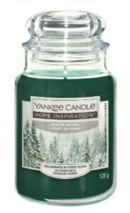 YANKEE CANDLE LARGE JAR Home Inspiration WINTER WOODS Christmas New Patchouli