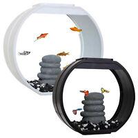 Fish R Fun Deco Mini Fish Tank 10L / 20L Aquarium LED Lighting Black / White