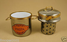 NEW HAND PAINTED FRENCH LIMOGES TRINKET BOX PLATINUM PASTA POT & MACARONI PASTA