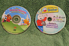 LOT OF 2 DVDs Postcards Buster's Outdoor Journey EASTER BUNNY IS COMING TO TOWN