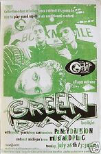 """GREEN DAY / PANSY DIVISION 1995 """"INSOMNIAC TOUR"""" GRAND RAPIDS CONCERT POSTER"""