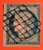 MARCOPHILE-Timbre CERES N° 4  d  (TB-1086-2)TB Cote 70+50 obli belle Grille Los