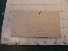 original vintage PostCard:  OLD COLONY RAILROAD bostom mass change of address
