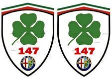 2 stickers adhésifs ALFA ROMEO 147 Q4 (idéal pour aile avant)