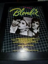Blondie Eat To The Beat Rare Original Promo Poster Ad Framed! #2