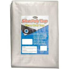 Sigman 12' x 24' Heavy Duty Tarp Roof Cover Canopy Reusable Recyclable Silver