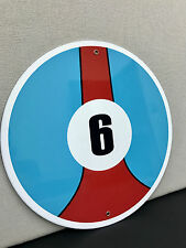 Gulf racing garage sign man cave advertising ford porsche round