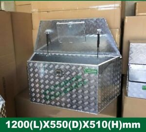 1200x550x510 mm Aluminium Draw Bar Toolbox Trailer Ute Truck Camper box