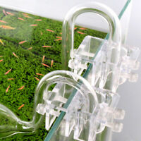 Acrylic Aquarium Tube Accessories Fish Tank Lily Glass Fix Holder Landscape Pipe