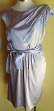 Matthew Eager silver Satin Dress Size 14 NWT RRP $445.00