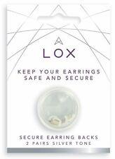 4 Lox Locking Earring Backs Butterfly Fittings  Anti-Allergy Backs