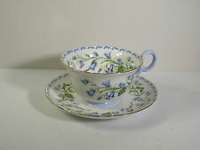 """SHELLEY #13544 CUP W/SAUCER -""""HAREBELL""""  BLUE W/GOLD TRIM """"T"""" CHESTER SHAPE"""
