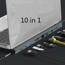 10 In1 Type-C Hub Dock TypeC Expand HDMI Low Temperature MacBook Accessories USB