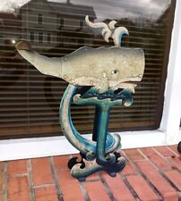 Vintage Indonesia Whale Tin Teeter Totter Sky Hook Balance Toy