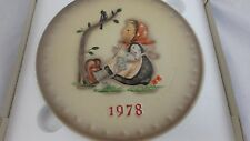 Vintage M.J. Hummel 1978 Annual Plate #271 West Germany Nos