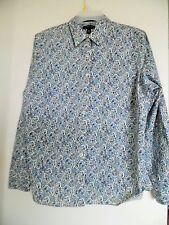 Lands' End Women's Floral  Non Iron Button Up Shirt Blouse Sz 16P